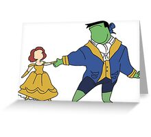 The Black Beauty and the Hulk Greeting Card