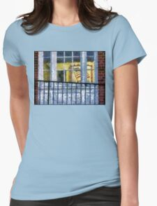FLAG IN WINDOW Womens Fitted T-Shirt