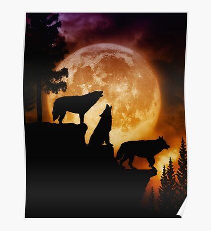 Wolves Peak Poster