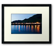 Dornie At Night Framed Print