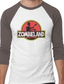 Jurassic Parody Zombie T Shirt Men's Baseball ¾ T-Shirt