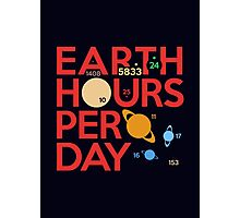 Earth Hours Per Day Photographic Print