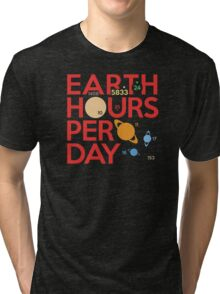 Earth Hours Per Day Tri-blend T-Shirt