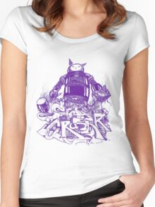 Citycrusher -protecting the earth- purple Women's Fitted Scoop T-Shirt
