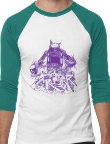 Citycrusher -protecting the earth- purple Men's Baseball ¾ T-Shirt