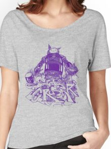 Citycrusher -protecting the earth- purple Women's Relaxed Fit T-Shirt