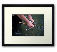 The Measuring Rod Framed Print