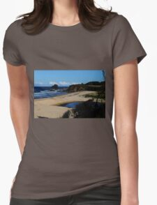 GlassHouse Rocks  Beach #8, Narooma Womens Fitted T-Shirt