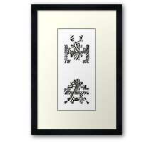 The Intricacies of Ink - Retro Arcadia Framed Print