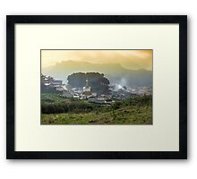 Langmusi temple in Sichuan, China Framed Print