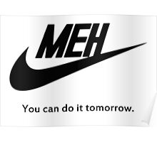 MEH Black Poster