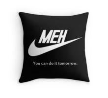 MEH White Throw Pillow