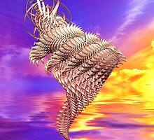 Wire Wrapped Golden Sunset by Julie Everhart