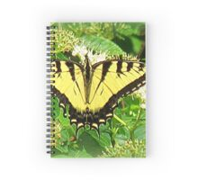 Eastern Tiger Swallowtail In Silky Dogwood Tree Spiral Notebook