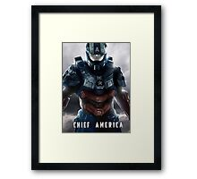 Halo 4 - Chief America Framed Print