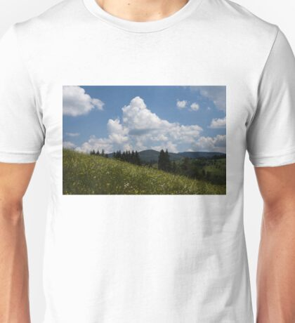 Lush Wildflower Meadow in the Mountains Unisex T-Shirt