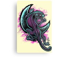 Space Purple Panther Moon Metal Print