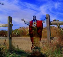 I am the gate for the sheep /  Jesus the Good Shepherd by fiat777