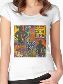 Finding JOY in My Journey Women's Fitted Scoop T-Shirt