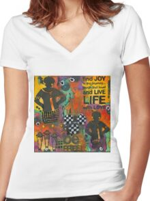 Finding JOY in My Journey Women's Fitted V-Neck T-Shirt