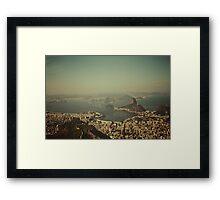 Rio de Janeiro vintage Framed Print