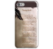 passing clouds iPhone Case/Skin