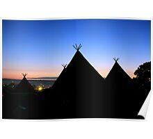 Sunrise at Glastonbury Poster