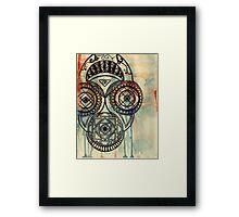 Border mask Framed Print