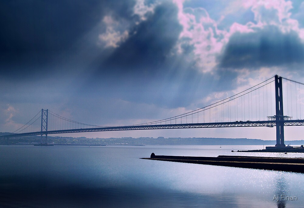 The Forth Road Bridge, North Queens Ferry. by Aj Finan