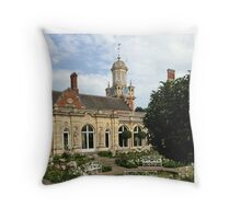 The clock tower at Somerleyton Hall Throw Pillow