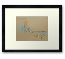 """Waiting"" Colour Pencil Art Framed Print"