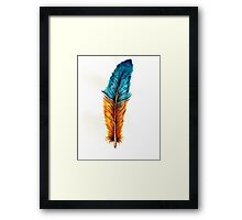 Watercolor feather Framed Print
