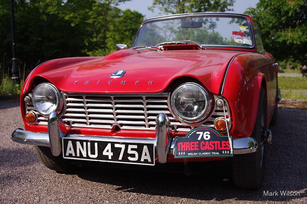 1963 Red Triumph TR4 by Mark Wilson