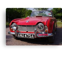 1963 Red Triumph TR4 Canvas Print