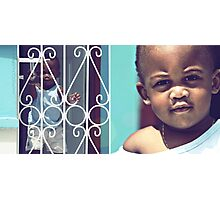 baby blue  Photographic Print
