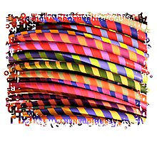 Hula Hoops Photographic Print