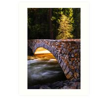 Crossing the Merced (Yosemite Valley) Art Print