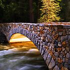 Crossing the Merced (Yosemite Valley) by Clyde  Smith