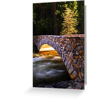 Crossing the Merced (Yosemite Valley) Greeting Card