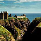 Dunnotter Castle In Scotland by Aj Finan