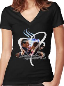 Castle - In My Veins Women's Fitted V-Neck T-Shirt