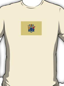 New Jersey USA Jerseyan State Flag Newark Bedspread T-Shirt Sticker T-Shirt