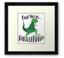 Dino Thriller Framed Print