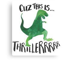 Dino Thriller Canvas Print