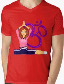YOGA GIRL Mens V-Neck T-Shirt