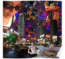 Emma's Sunglasses - digital art Poster