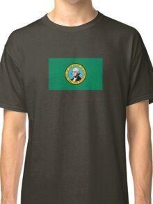 Washington State Flag USA Seattle Bedspread T-Shirt Sticker Classic T-Shirt