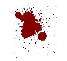 Blood Splatter Photographic Print
