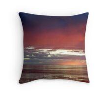 Pink Sunset I Throw Pillow