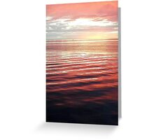 Pink Sunset II Greeting Card